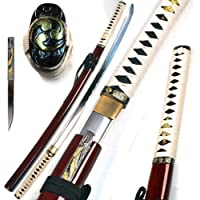 Ace Martial Arts Supply - Espada Katana Samurai Afilada Hecha a Mano Zetsurin - Musha