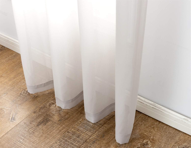anjee white sheer chiffon curtains 45