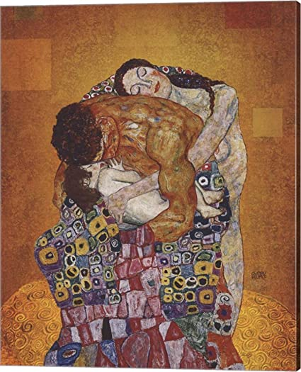 Amazoncom The Family By Gustav Klimt Canvas Art Wall Picture
