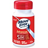 Move Free Glucosamine 1500mg (per serving) & Chondroitin - Advanced Joint Support Tablets (350 Count In A Bottle), For Joint
