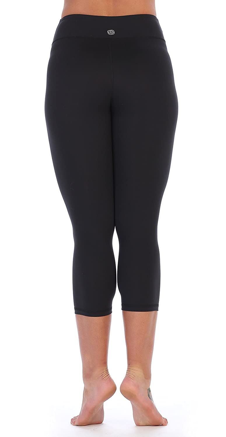 8325d6fc6fa79 Amazon.com: American Fitness Couture Womens Premium Ultra Soft Compression High  Waist Workout 3/4 Length Leggings: Clothing