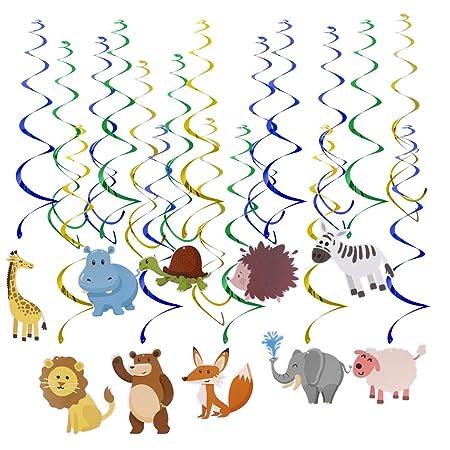 Amosfun 20 Piezas Remolino de Cumpleaños con Animales ...