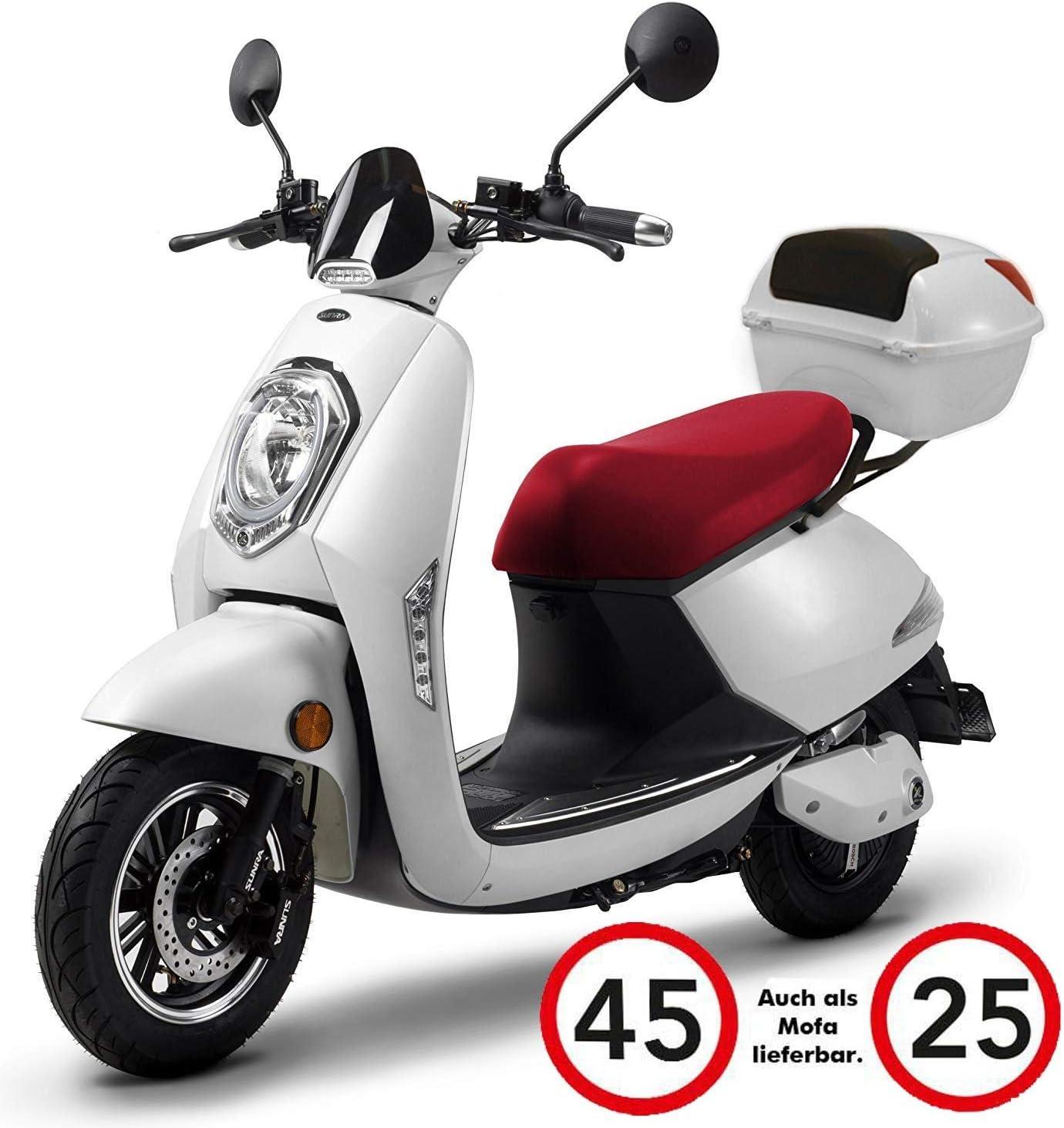 Elektroroller Elettrico 1200 Watt E Motor Bis Zu 60 Km Reichweite E Roller Straßenzulassung E Scooter Elektro Roller 45 Km H Lithium Akku Produktvideo Weiß Auto