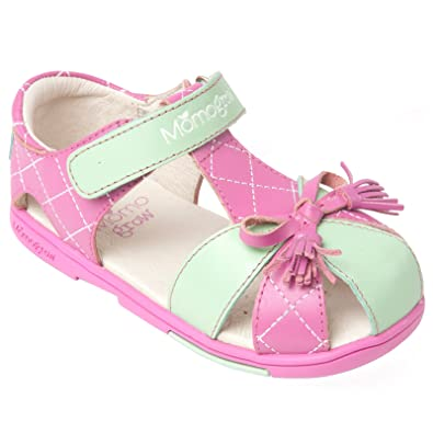 b148db82d Momo Grow Girls Tassel Bow Leather Sandal Shoes - 12 M US Little Kid Pink