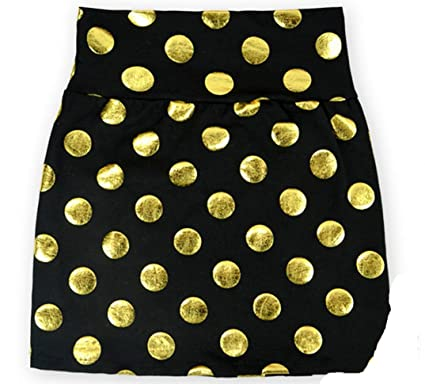 75c8373e4e G&G Baby Girls Black and Gold Polka Dot Skirts Xsmall (3m-12m) Multicolored