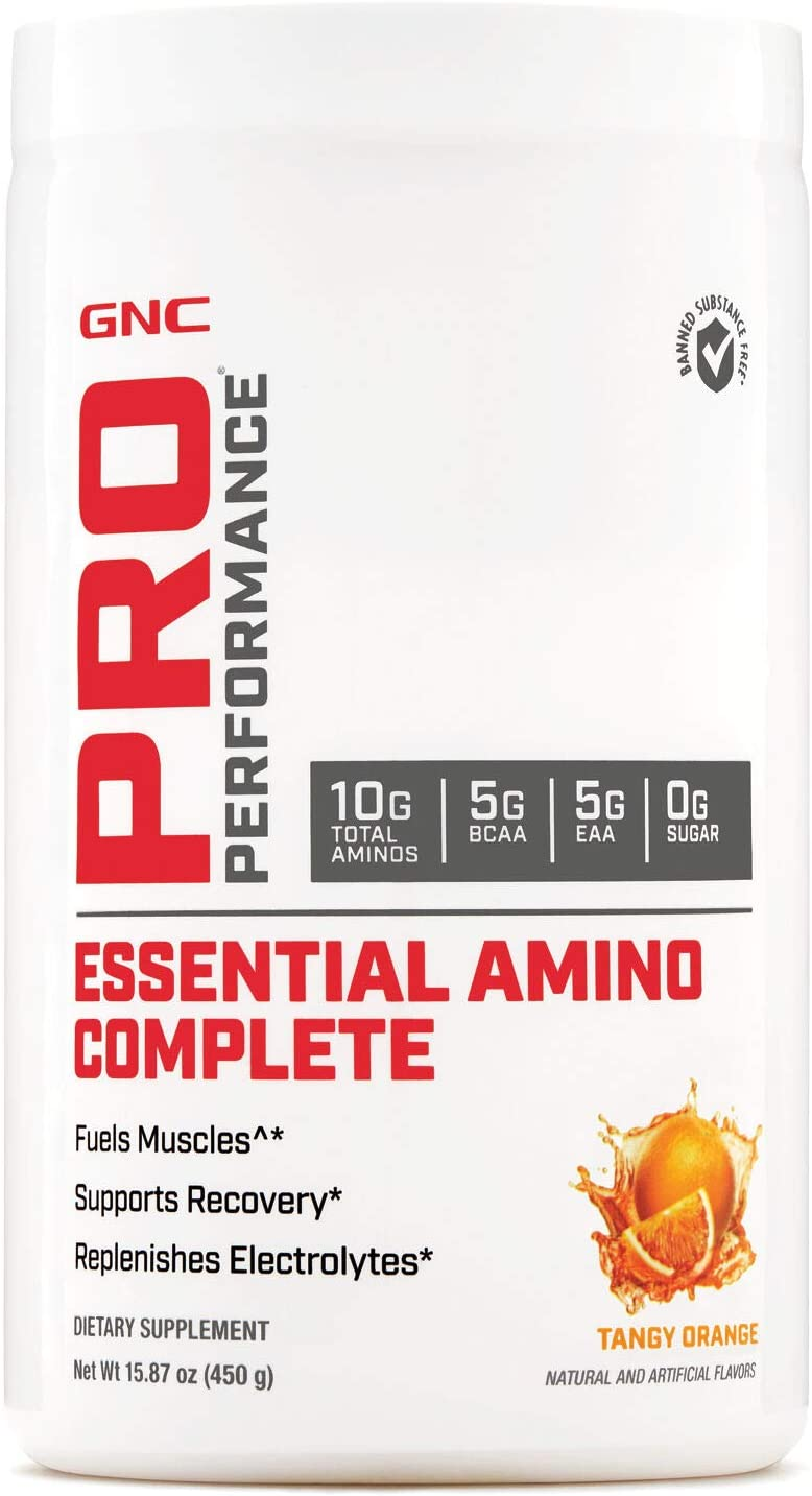 GNC Pro Performance Essential Amino Complete, Tangy Orange, 30 Servings, Supports Muscle Recovery
