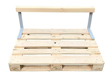 relaxedLiving | Rücklehne für Palettenmöbel | zum Anschrauben | für  Euro-Paletten | massiv | DIY Möbel | 2 Stahlwinkel & 1 Holzbalken | Zubehör  | ...