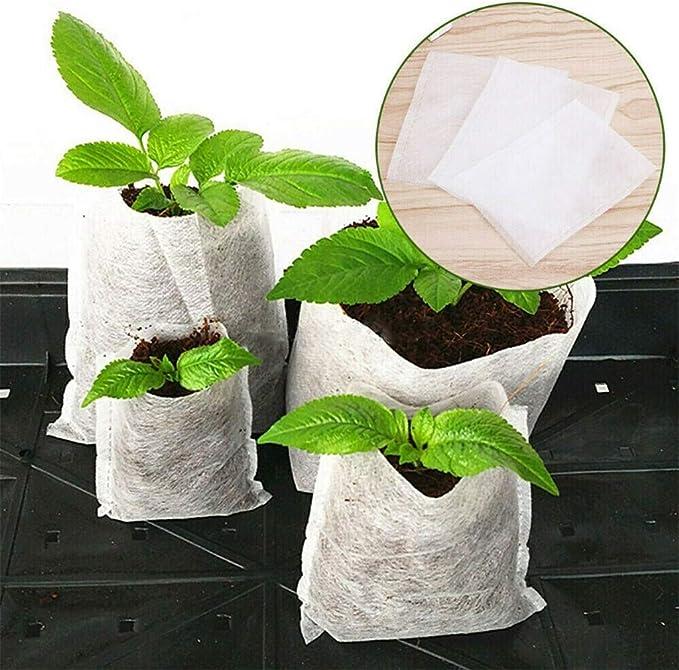100x Pflanzen Obst Sämling Taschen Pflanzbeutel Pflanzsack Vliesstoff Biologisch