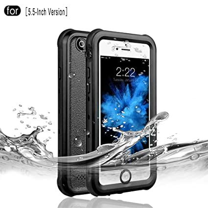 new concept f65aa 6e249 RedPepper iPhone 6 Plus/6s Plus Waterproof Case, IP68 Certified Drop  Resistant Full Sealed Underwater Protective Cover, Shockproof, Snowproof  and ...