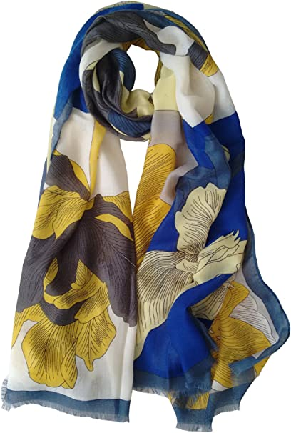 Sailing Over The Sea Quirky Print Fashion Scarves Shawl Wrap Sarong Long Soft