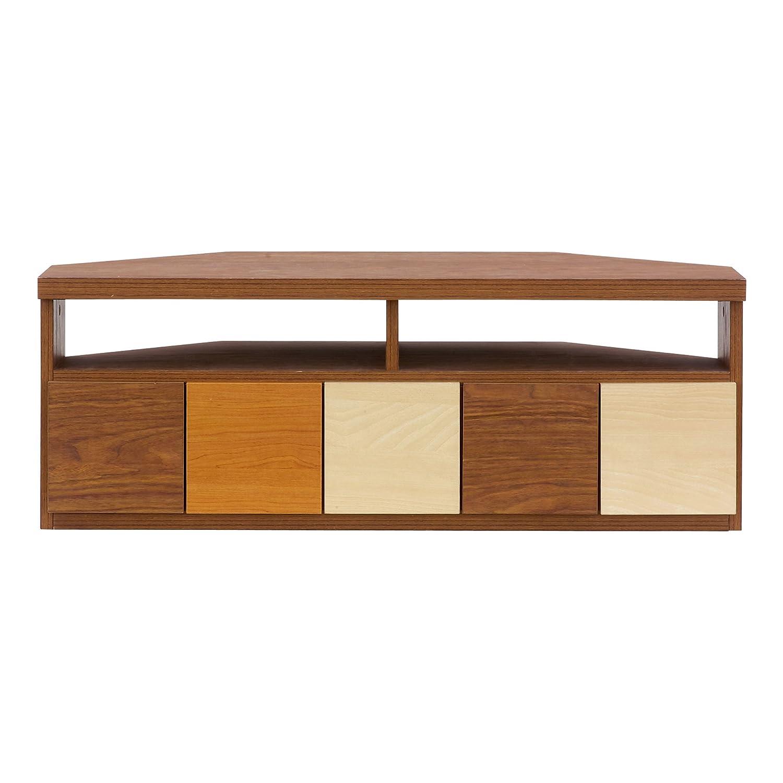 コーナーテレビ台 テレビボード Corner Vario(コーナーヴァリオ) 37型対応 完成品 (ブラウン) B075L8NCM8 ブラウン ブラウン