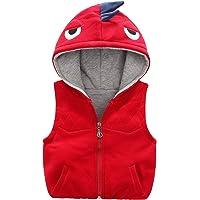 Happy Cherry - Chaleco de invierno de algodón con diseño de dinosaurio sin mangas