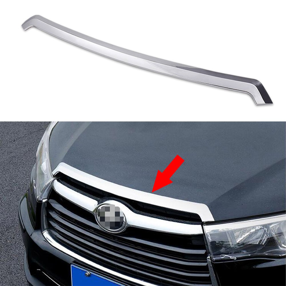 Generic Chrome Front Hood Grill Cover Bonnet Trim Fit For Toyota Highlander 2015 2016 Kate Wenzhou automobile supplies factory