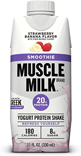 Muscle Milk 100 Calorie Protein Shake Bundle Pack, Chocolate Vanilla Creme, 20g Protein, 11oz Cartons 24 Pack