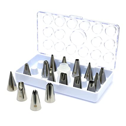 Amazon.com: Best 16 Piece Nozzles Stainless Piping Steel Cake ...