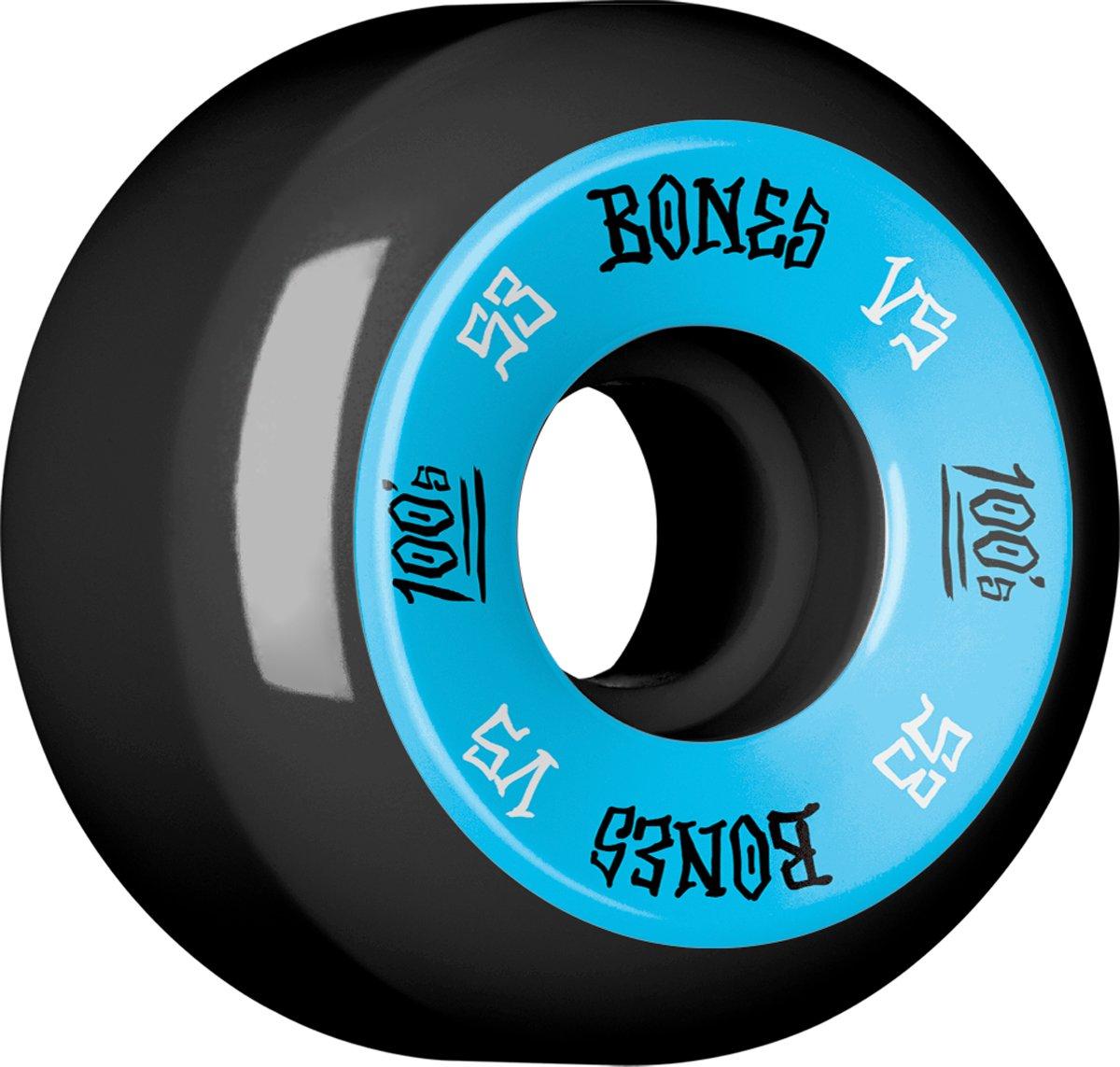 Bones Wheels 100'S # 1 53x34 Negro [V5] (Nuevo)