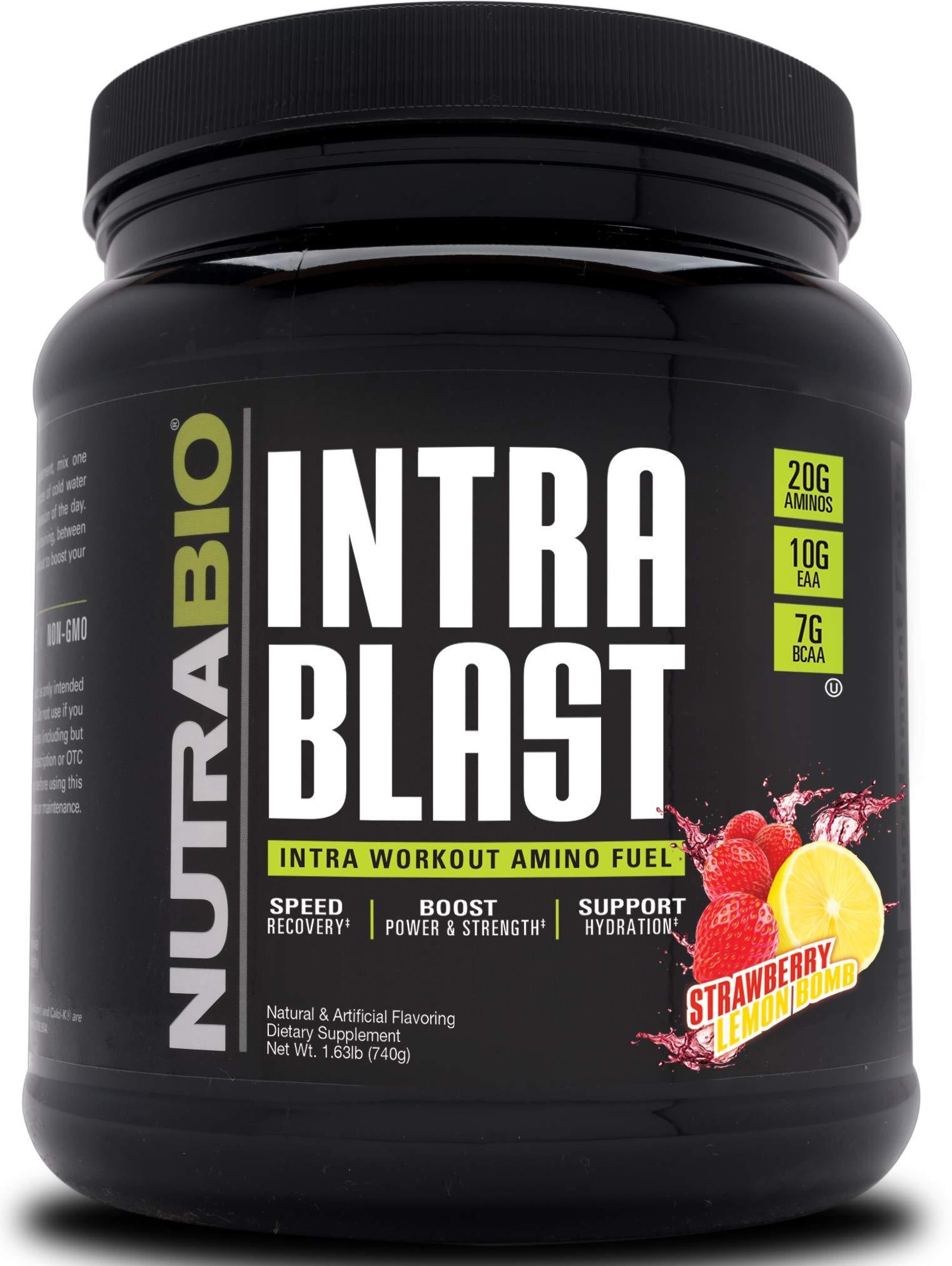 NutraBio Intra Blast - 30 Servings (Strawberry Lemon Bomb)