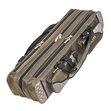 80cm//90cm 3 Layer Fishing Rod Bag Fishing Pole Tools Storage Bag Fishing Gear Tackle Bag Case