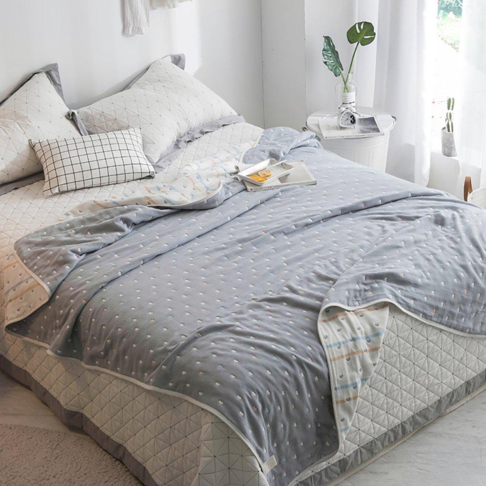 Uozzi Bedding 6 Layers of 100% Hypoallergenic Muslin Cotton Baby Toddler Premium Blanket, Cute Pattern. Premium Premium Blanket for Sleep/Nap//Crib/Bed (Sweet Heart, 75''x88'')