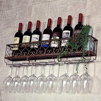 Soporte de vidrio para vino Soporte de vino Soporte de pared ...