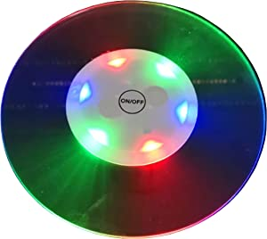 BINOWEN 2 PC LED Light Coaster, Bar Beer Beverage Coasters for Drinks with Holder, Cup Mats Fit for Dorm Room Wedding Bar Club Restaurant Various Parties Decora
