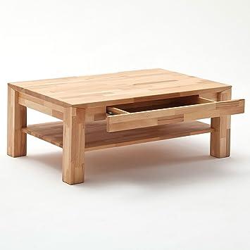 Couchtisch Holz Massiv Buche Mit Schublade Massivholz Wohnzimmer