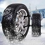 Snow Chains, 6 Pcs Emergency Tire Chains for Pickup Trucks/Cars/SUV/ATV, Universal