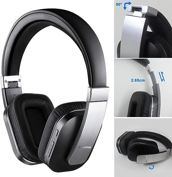 [Actualizado] Activo Ruido que Cancela los Auriculares ,Eonfine Inalámbrica Bluetooth Sobre-Oído APT-X Auriculares,14 horas de Tiempo Escuchando ...