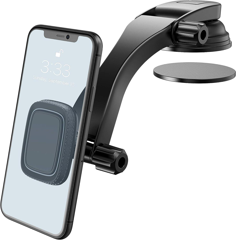 Miracase Soporte del Coche del Teléfono, Universal Soporte Móvil Coche para Salpicadero y Parabrisas Rotación de 360 para iPhone SE 2020/11 / XR, Samsung, Huawei y dispositivos GPS