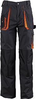 Stens Pantaloni da Lavoro Uomo Made in EU, Pantaloni Cargo, Multitasche con Tasche per Ginocchiere Neri