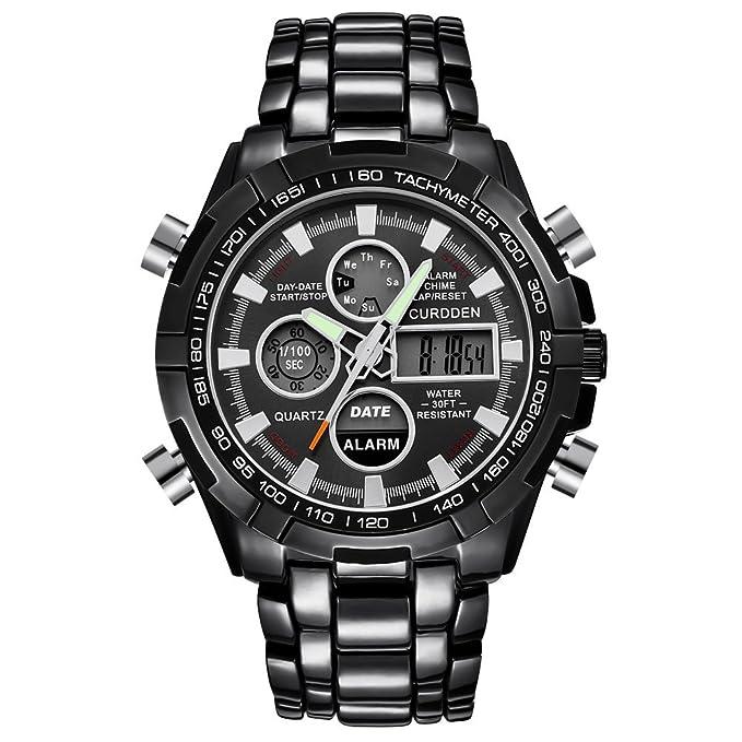 Amazon.com: Beclgo - Reloj de pulsera para hombre, de cuarzo ...