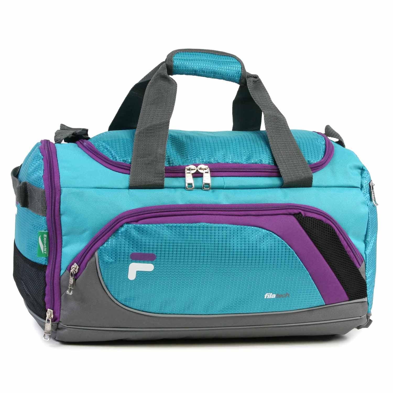 Fila Advantage Small Travel Gym Sport Duffel Bag, Black/Lime Fila Luggage FL-SD-3619