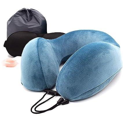 Cuscino Da Viaggio Memory.Cuscino Da Viaggio Memory Foam Kuma Best A Forma Di U Collo Cuscino Con 360 Head Tridimensionale Pieno Supporto Cervicale Collo Cuscino Da Viaggio