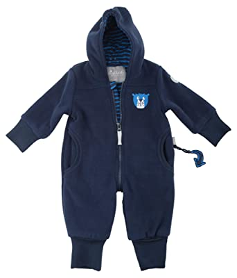 9bec388c78 Sigikid Jungen Fleece Overall, Baby Schneeanzug, Blau (Mood Indigo 275), 62