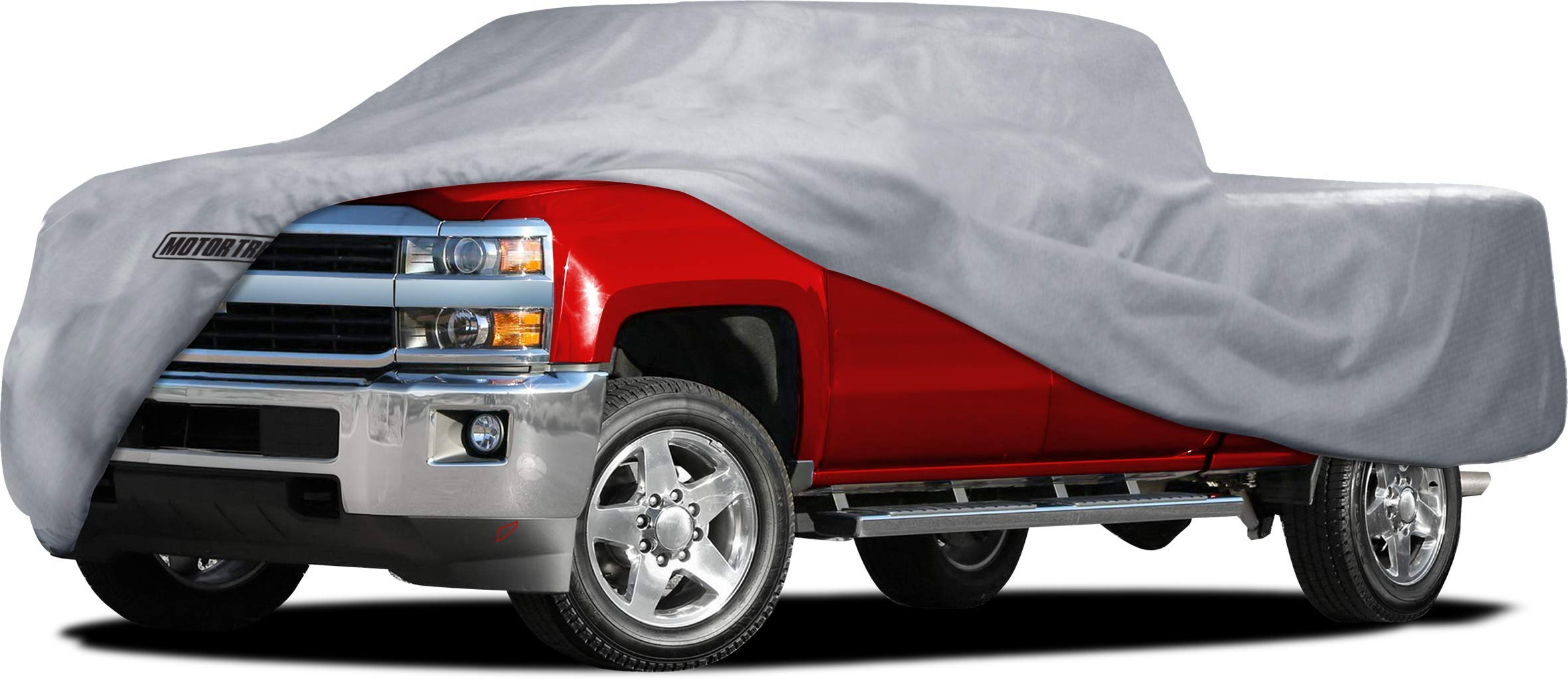 Motor Trend M2-TC7 XXLarge Multi-Layer 4-Season (Waterproof Outdoor UV Protection for Heavy Duty Use Full Car Cover for Pickup Truck Size XXL)