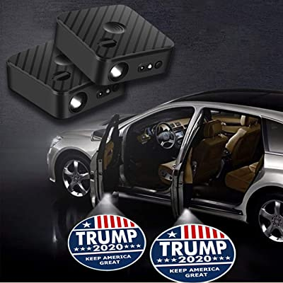 For Trump 2020 Keep America Great Car Door Projector, Upgraded Car Door Projector Shadow Ghost HD LED Lights, for all Vehicle, 2 Pack: Automotive [5Bkhe1503768]