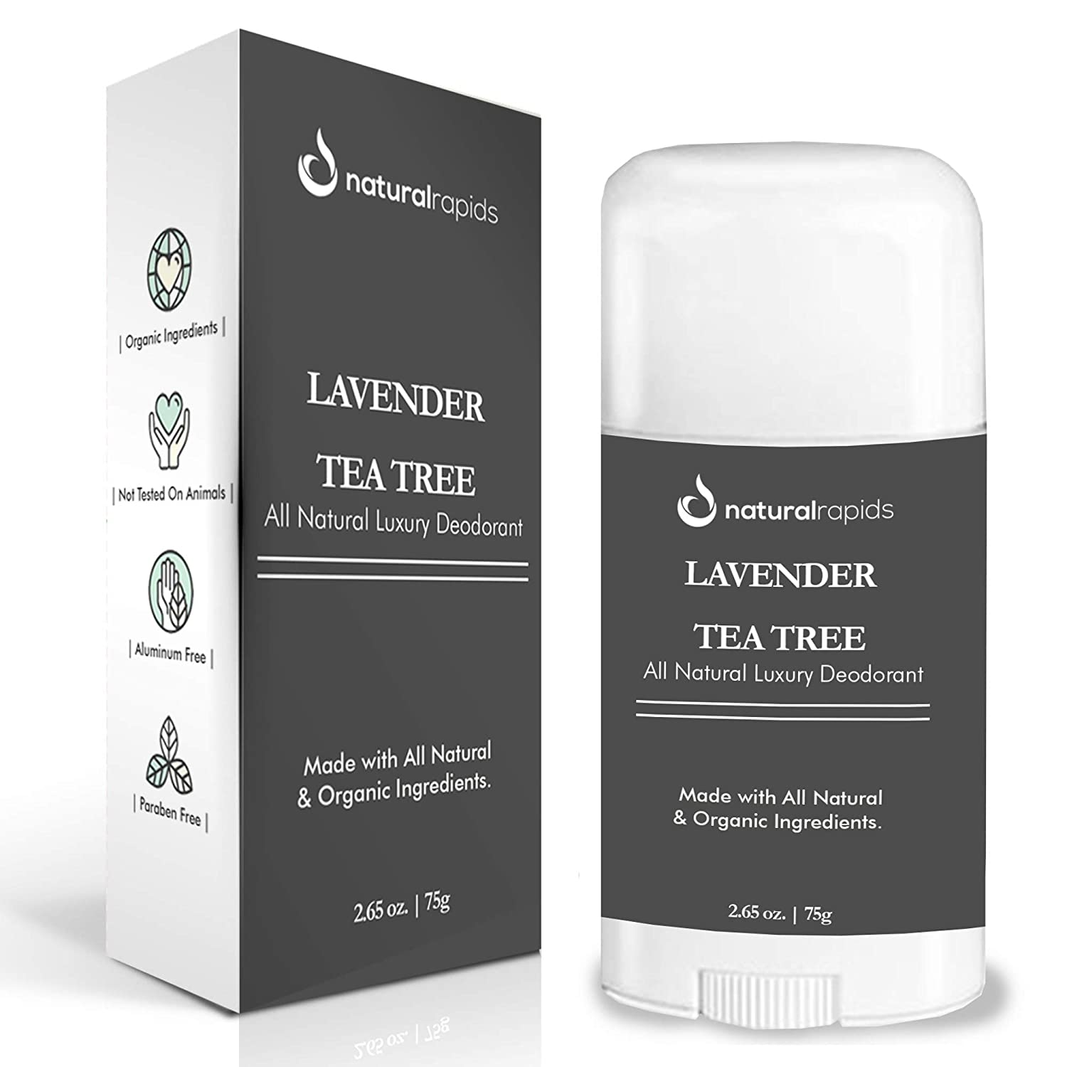 Aluminum-Free Natural Deodorant With Magnesium - Organic, Baking Soda Free, Healthy, and Safe Deodorant Stick (That Finally Works!) - For Women & Men