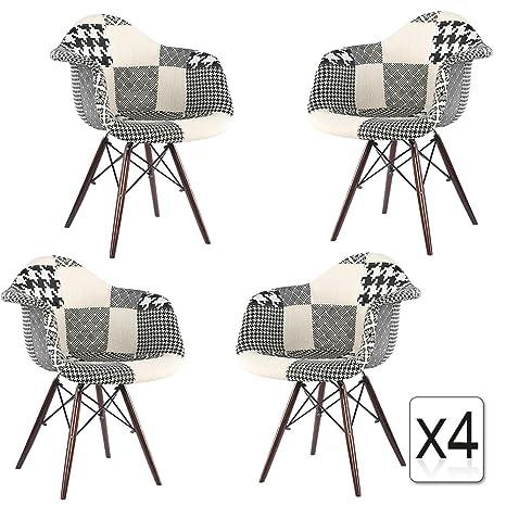 Mobistyl DAWD-M4 - Juego de 4 sillas de diseño moderno ...