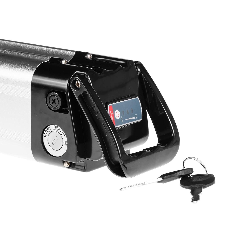 GC/® Batteria E-BIKE 24V 10.4Ah Bicicletta Elettrica Silverfish con Celle Panasonic Li-Ion e Caricabatterie Skoda Atala Carrera P1ebike