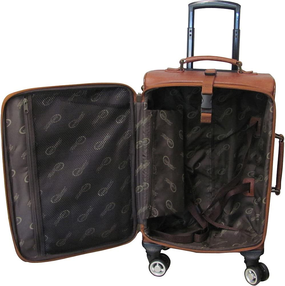 AmeriLeather Croco-Print 24 Spinner Carry-On Luggage Brown Croco-Print