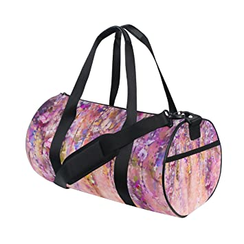 TIZORAX Bolsa de Viaje, Diseño de Flores de Color Violeta Rosa, para Pintar el
