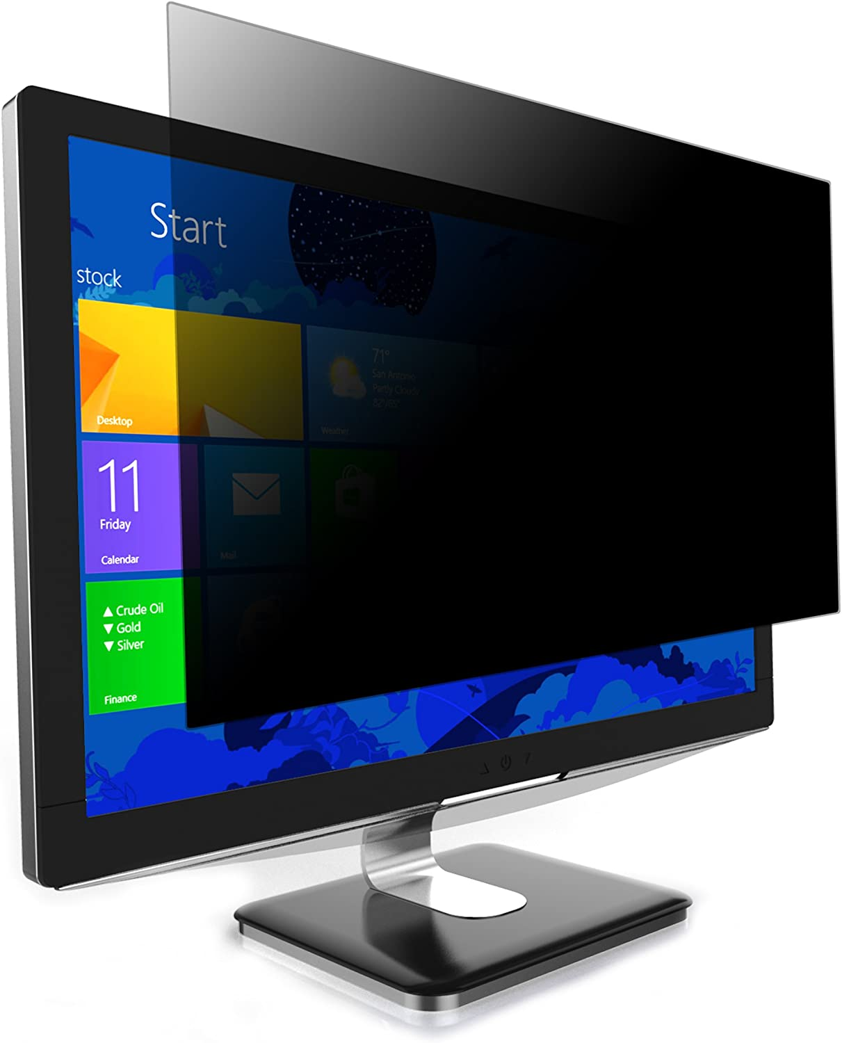 Targus 4Vu Privacy Screen Filter for 27-Inch Widescreen (16:10 Ratio) Monitor, Landscape/Portrait View, Blue Light Filter to Protect Eye Strain (ASF27WUSZ)