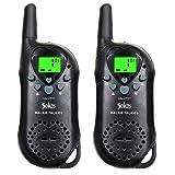 Walkie Talkies, 22 Channel Child Walkie Talkies 2 Way Radio 3 Miles (Up to 5Miles) UHF Handheld Walkie Talkie for Kids (Pair) (Black) by Sokos