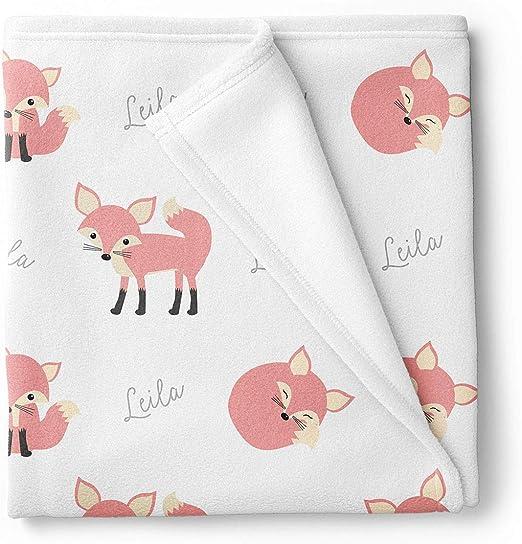 Fox Woodland Animal Snuggler Personalized Security Blanket Baby Blankie