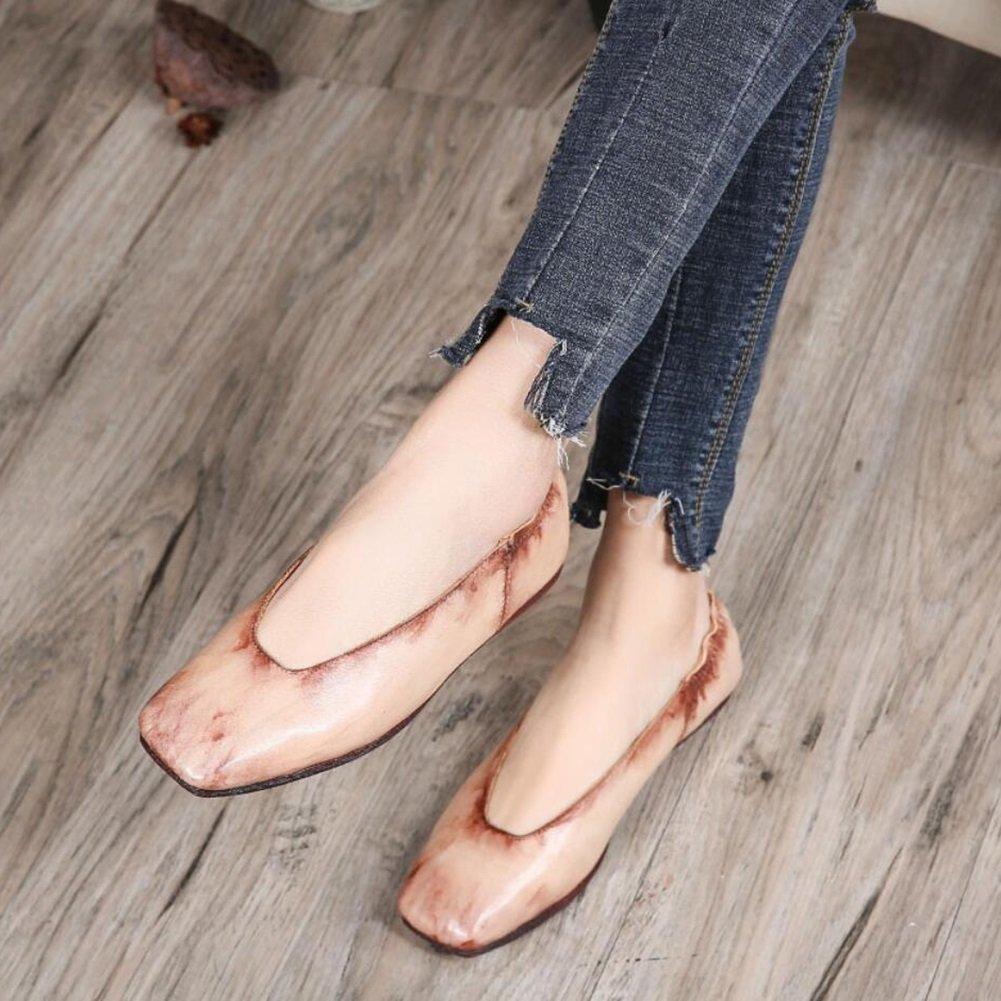 XUE Damenschuhe Leder Frühjahr Sommer Sommer Sommer Loafers & Slip-Ons Fahr Schuhe National Style Sandalen Hausschuhe & Flip-Flops Persönlichkeit Walking Schuhe Office Breathable (Farbe   EIN Größe   38) a5efe1