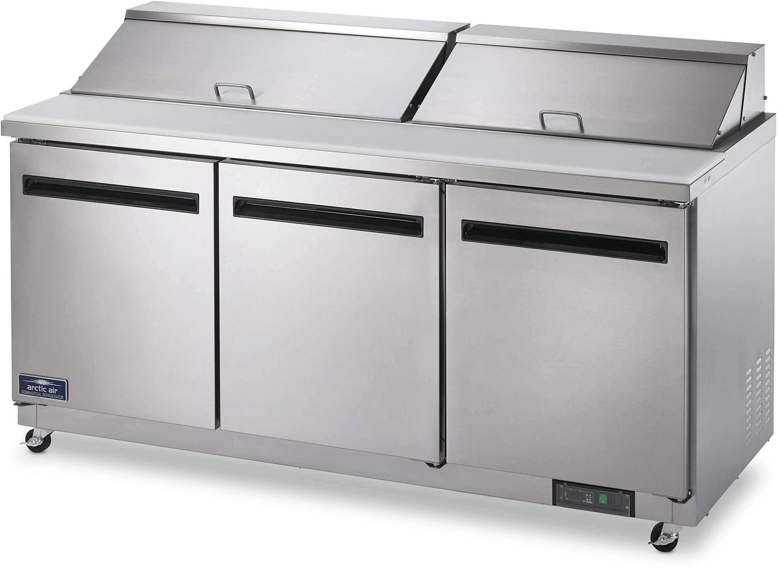 Arctic Air AST72R 72'' 3 Door Refrigerated Sandwich Prep Table by Arctic Air