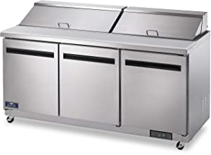 "Arctic Air AST72R 72"" 3 Door Refrigerated Sandwich Prep Table"
