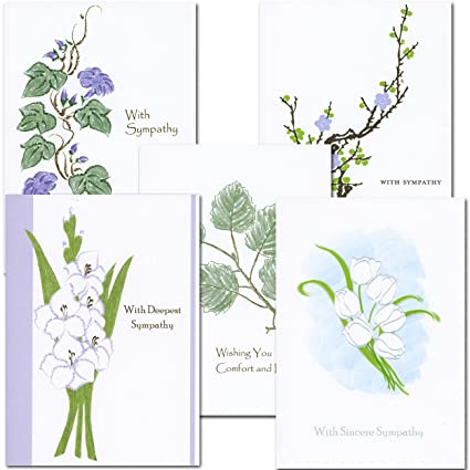 amazon com sympathy card assortment 2 each of 5 designs boxed 10
