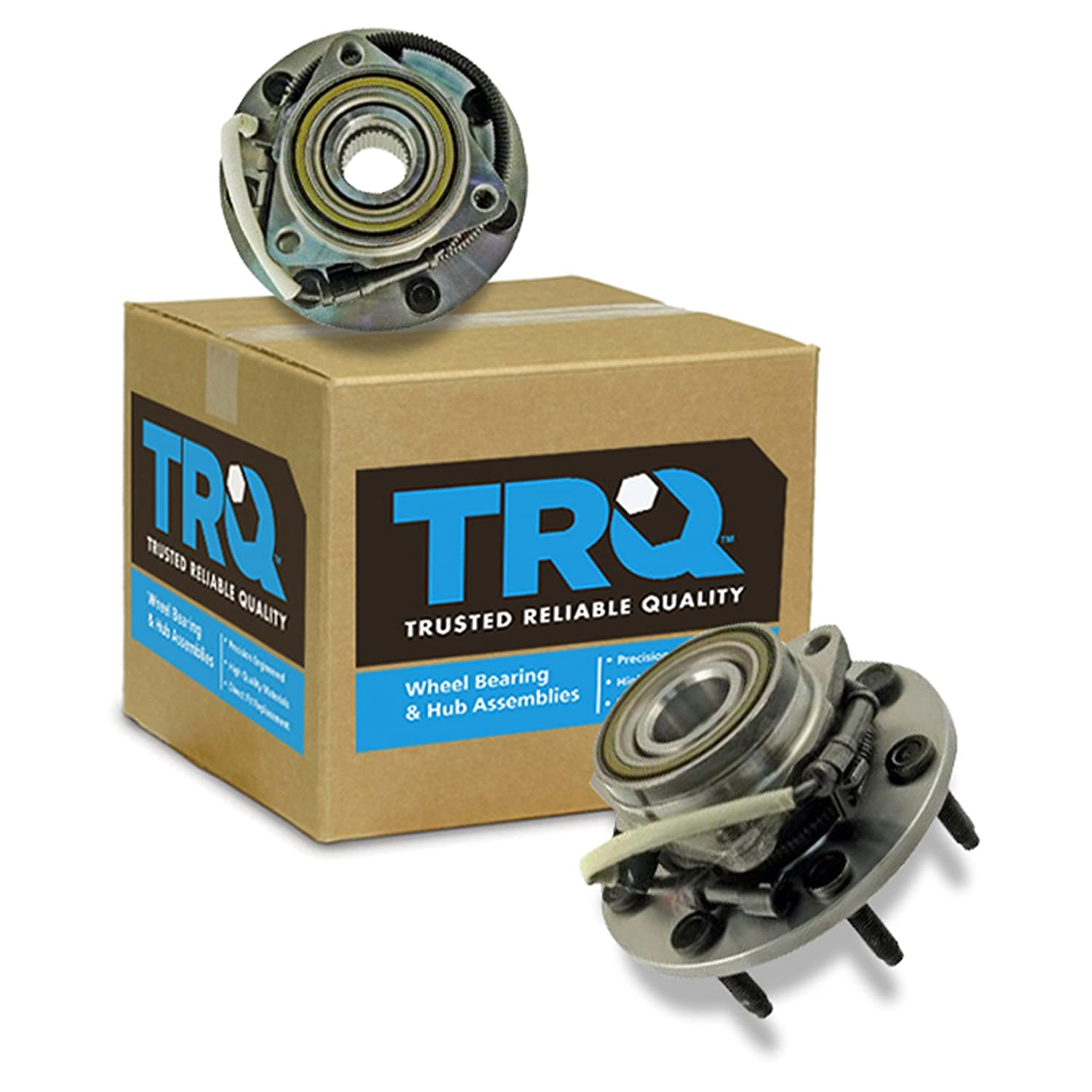 4WD 4x4 Front Wheel Hub & Bearing Pair for F150 F250 w/ABS TRQ