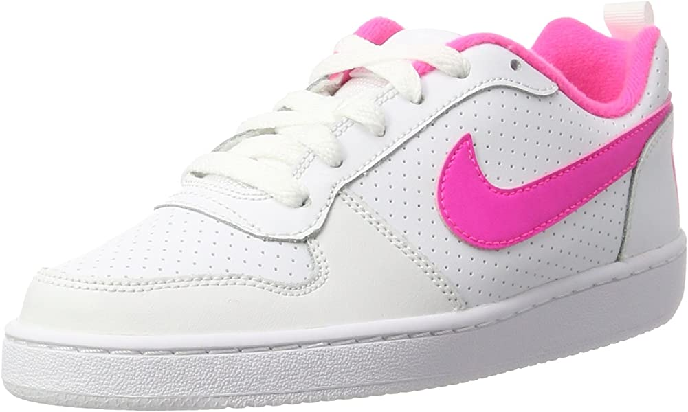 reputable site 060ac ed569 Nike Damen Court Borough Low (GS) Basketballschuhe Weiß (White/Pink Blast  100